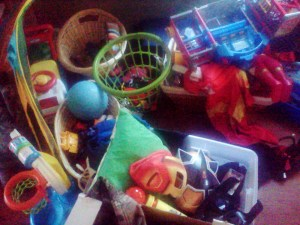 All of Superhero Son's toys!
