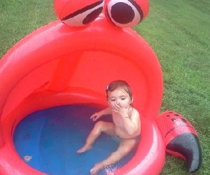 Darling Daughter loves the little pool!